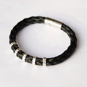 armband paardenhaar zilver Combi 1