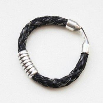 armband paardehaar clipsluiting
