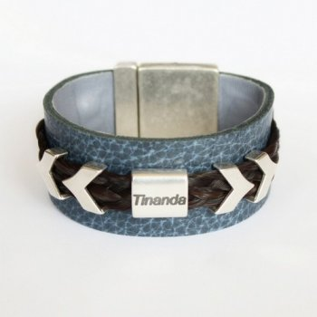 lederen armband paardenhaar Tinanda 1